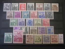 """Österreich 1957/70- Freimarken """"Bauwerke Und Baudenkmäler"""" 1090-1114, Erg. Werte 1224, 1261, 1286 Und 1354 -  29** Werte - 1945-.... 2. Republik"""