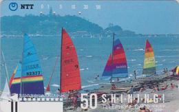 TC Ancienne Japon / NTT 250-063 - Sport - SURF VOILE / TBE - SURFING Japan Front Bar Phonecard - Sport
