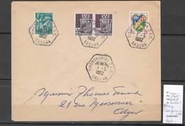 Algerie - Lettre  - Cachet Hexagonal TIBERGHAMINE CAS -  Marcophilie - Algérie (1924-1962)