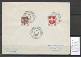 Algerie - Lettre  - Cachet Hexagonal TSABIT.SBAA SAS-  Marcophilie - Algérie (1924-1962)
