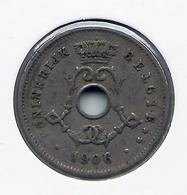 LEOPOLD II  * 5 Cent 1906 Vlaams * Nr 5199 - 1865-1909: Leopold II