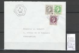 Algerie - Lettre  - Cachet Hexagonal ZAOUIET  ED DEBBAGH CAS -  Marcophilie - Algérie (1924-1962)