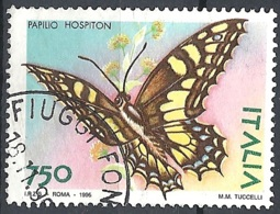 Italia, 1996 Farfalla Papilio Hospiton, 750L Policromo # Sassone 2231 - Michel 2450 - Scott 2096  USATO - 1946-.. République