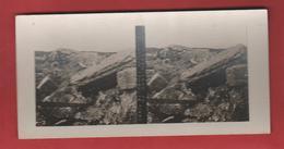 Vue Stéréoscopique Abris Bétonnés Au Sommet Du Mont-Haut - 1914-18