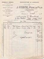 Manufacture De Sandales J. Coste,pére Et Fils A Lamanére(pyrenées Orientales) - Textile & Clothing