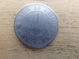 Bolivie  1  Boliviano 1987  Km 205 - Bolivie