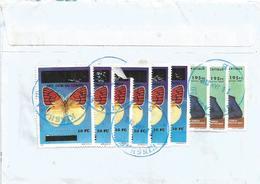 RDC DRC Congo Zaire 2012 Kinshasa Colotis Zoe Butterfly Overprint 10 FC On 70,000NZ President Kabila Cover - Vlinders