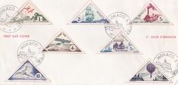 MONACO FDC TIMBRE TAXE TRANSPORTS 1ER JOUR EMISSION 1953 ET 1954 SEPT TIMBRES - FDC