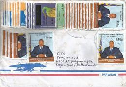 DRC RDC Congo 2009 Kimpese Code Letter D Prehistory Scutellosaurus 25 FC Overprint President Kabila Cover - Democratische Republiek Congo (1997 - ...)