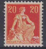 SUISSE 1908 : Le 20c, Neuf * - Svizzera