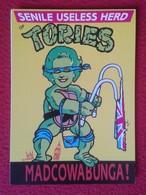 POSTAL POST CARD CARTE POSTALE MAGGIE MARGARET TATCHER POLITIC POLITICAL SATIRE NINJA TURTLES TORIES SENILE USELESS HERD - Sátiras