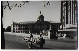 Genre Carte-photo , Grainée , Toilée Pakistan , Charette Attelée Passant Devant Le Bat Douanes, Lire Au Verso , Rare - Pakistan