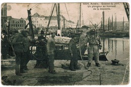 Antwerpen, Anvers, Scenes Du Port, Un Plongeur Au Moment De La Descente (pk55370) - Antwerpen