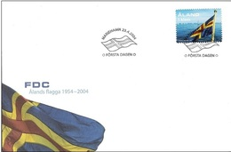 Aland 2004 FDC - The 50th Anniversary Of The Aaland Flag. Self-Adhesive Stamp - Aland