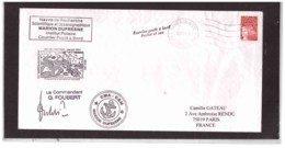 515   -   PAQUEBOT   MARION DUFRESNE   5.7.2001   /    COURRIER POSTE' A BORD - Navi Polari E Rompighiaccio