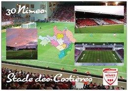 Stade De Football - Stade Des Costières - NIMES - Carte Géo Du Gard - Cpm - Vierge - - Soccer
