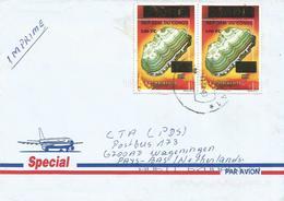 DRC RDC Congo 2003 Kamina Malachite Minerals 100 FC Overprint Cover - Democratic Republic Of Congo (1997 - ...)