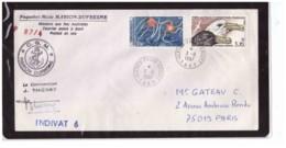 524   -   PAQUEBOT-MIXTE    MARION DUFRESNE   3.8.1987    /    COURRIER POSTE' A BORD - Navi Polari E Rompighiaccio