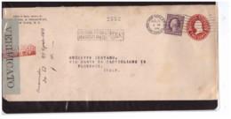 535   -   U.S.A. STORIA POSTALE  - NEW YORK  26.8.1916  /  LETTERA DA N.Y. A FLORENCE CON LABEL DI CENSURA - Vereinigte Staaten