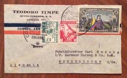 POSTA AEREA PAR AVION  ECUADOR  GERMANY ALEMAGNA   FROM  QUITO  TO NEUGERSDORF  THE 3/3/1939 - Ecuador