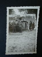 "2. WK., Original Foto, Panzer "" Mulhouse "", Tank Mit Soldaten - Dokumente"