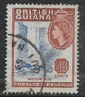 British Guiana, EIIR, 1961, 48 Cents, Used, Torn NW Corner - British Guiana (...-1966)