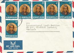 Zaire DRC Congo 1986 Rutshuru Code Letter B President Mobutu Cover - Zaïre