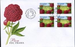 ÅLAND 2007 - FDC - ATM - FRAMA FLOWERS - Aland
