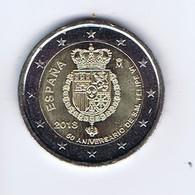 Spagna - 2 Euro Commemorativo 2018 - 50° Compleanno Di Re Filippo VL - Spain