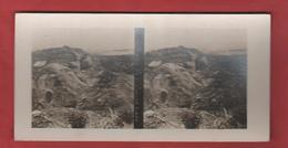 Vue Stéréoscopique Abris Bétonnés Au Sommet Du Mont -Haut - 1914-18