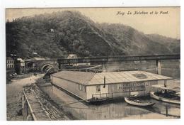 Huy  La Natation Et Le Pont 1909 - Hoei