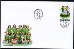 Aland 2007 - FDC Woman Football - My Stamps - Aland