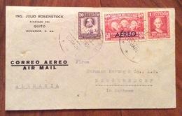 POSTA AEREA PAR AVION  ECUADOR  GERMANY ALEMAGNA   FROM  QUITO  TO NEUGERSDORF  THE 3/6/1936 - Ecuador