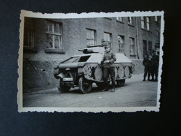 2. WK., Original Foto, Panzerattrappe - Dokumente