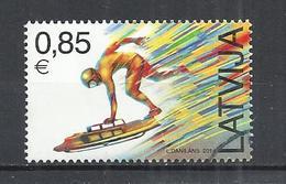 LATVIA 2014 - WINTER OLYMPIC GAMES - SKELETON - USED OBLITERE GESTEMPELT USADO - Winter 2014: Sochi