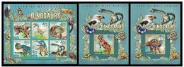 Sierra Leone 2015 Fauna Dinosaurs Klb + 2 S/s MNH - Postzegels