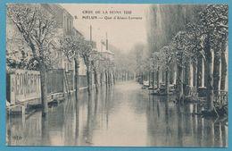 CRUE DE LA SEINE 1910 - MELUN - Quai D'Alsace-Lorraine - Melun