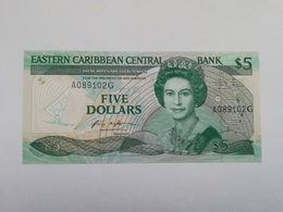 CARAIBI ORIENTALI GRANADA 5 DOLLARS - East Carribeans