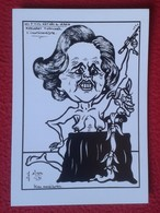 POSTAL POST CARD CARTE POSTALE CARTOONS HUMOR HUMOUR JOHN MAJOR MAGGIE MARGARET TATCHER SATIRE L'ILLUSIONISTE VER FOTOS - Sátiras
