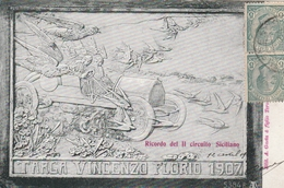 "CPA:SICILE ""TARGA VINCENZO FLORIO 1907"" RICORDO DEL II CIRCUITO SICILIANO ""CIRCUIT AUTOMOBILE"" ÉDITEUR A.GAETA..ÉCRITE - Sport Automobile"
