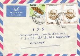 Zaire DRC Congo 1982 Butembo Einstein Nobel Prize Freshwater Fish Cover - Zaïre