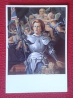 POSTAL POST CARD CARTE POSTALE MAGGIE MARGARET TATCHER POLITIC POLITICAL SATIRE AS ST. JOAN CARICATURE CARTOON VER FOTOS - Sátiras