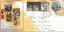 150 Ième Anniversaire Naissance Du Mahatma Gandhi, Belle Lettre De L'INDE Adressée Andorra,avec Timbre à Date Arrivée - Mahatma Gandhi
