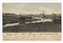 Courtrai  Les Bords De La Lys 1901 - Kortrijk