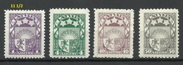 LATVIA Lettland 1929 Michel 149 - 152 * - Lettland