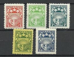 LETTLAND Latvia 1929/32 Michel 171 - 175 * - Lettonie