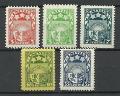 LETTLAND Latvia 1929/32 Michel 171 - 175 * - Lettland