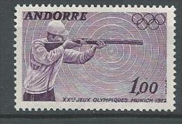 """Andorre YT 220 """" JO Munich """" 1972 Neuf** - Andorre Français"""