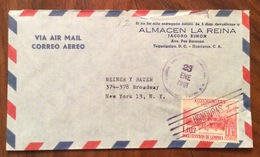 POSTA AEREA PAR AVION  HONDURAS   U.S.A.  FROM TAGUCIGALPA  TO NEW YORK  THE 23/1/61 - Honduras