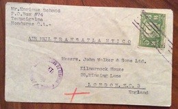 POSTA AEREA PAR AVION  HONDURAS  ENGLAND   FROM TEGUCIGALPA   TO  LONDON   THE 8/9/39 - Honduras